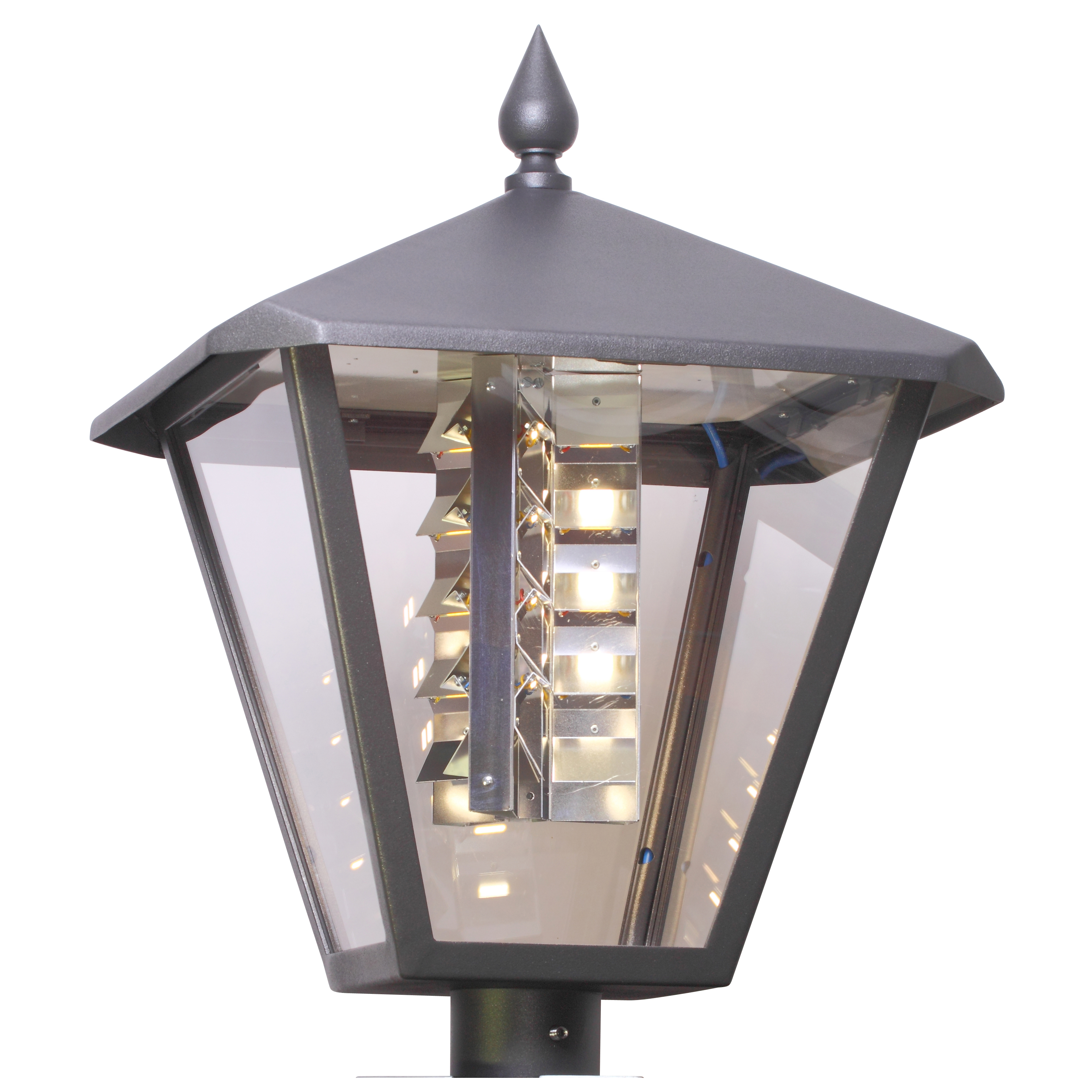 LED Old Town Luminaire Square with LED Insert Uranus
