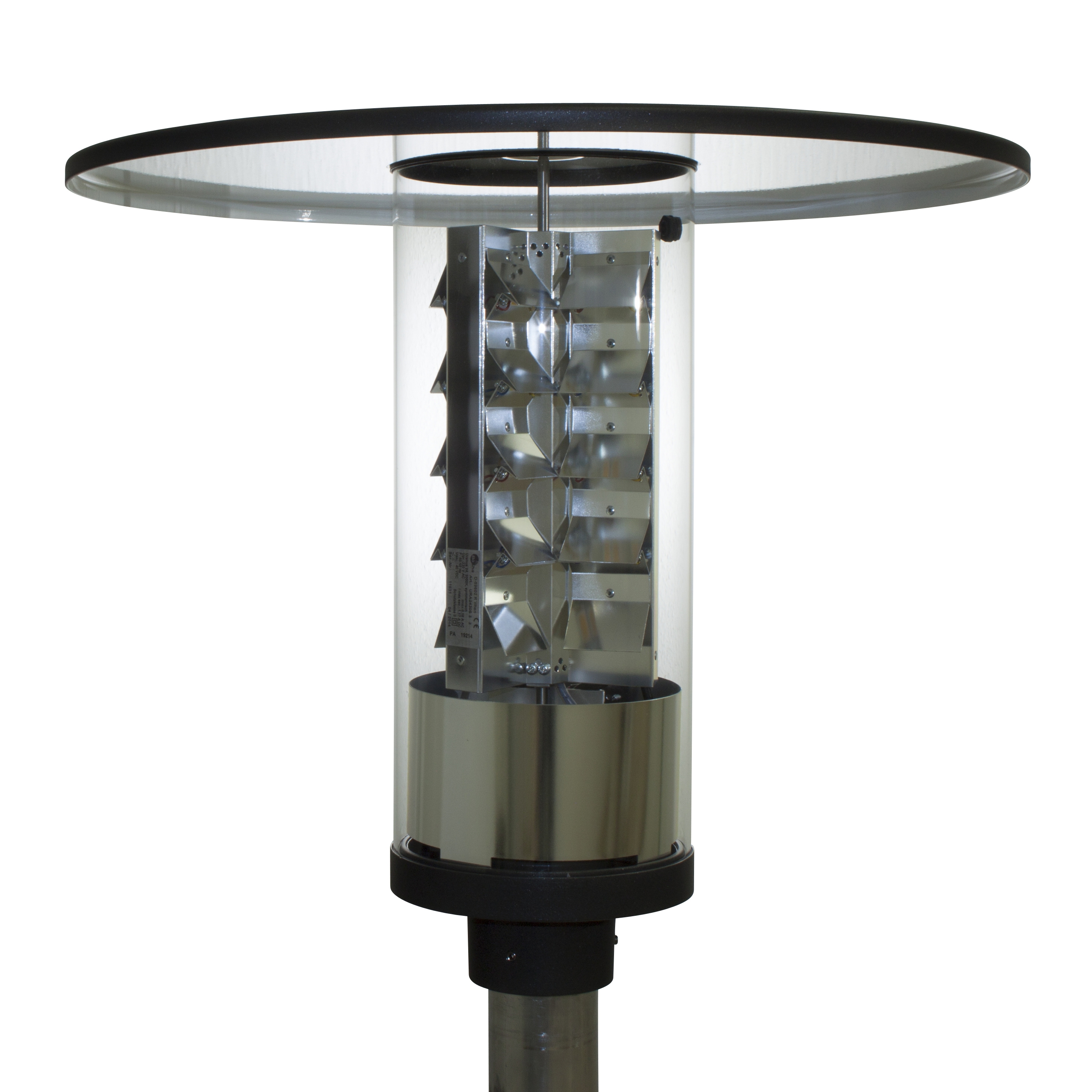 LED Round Luminaire without Skylight - with Disk Roof