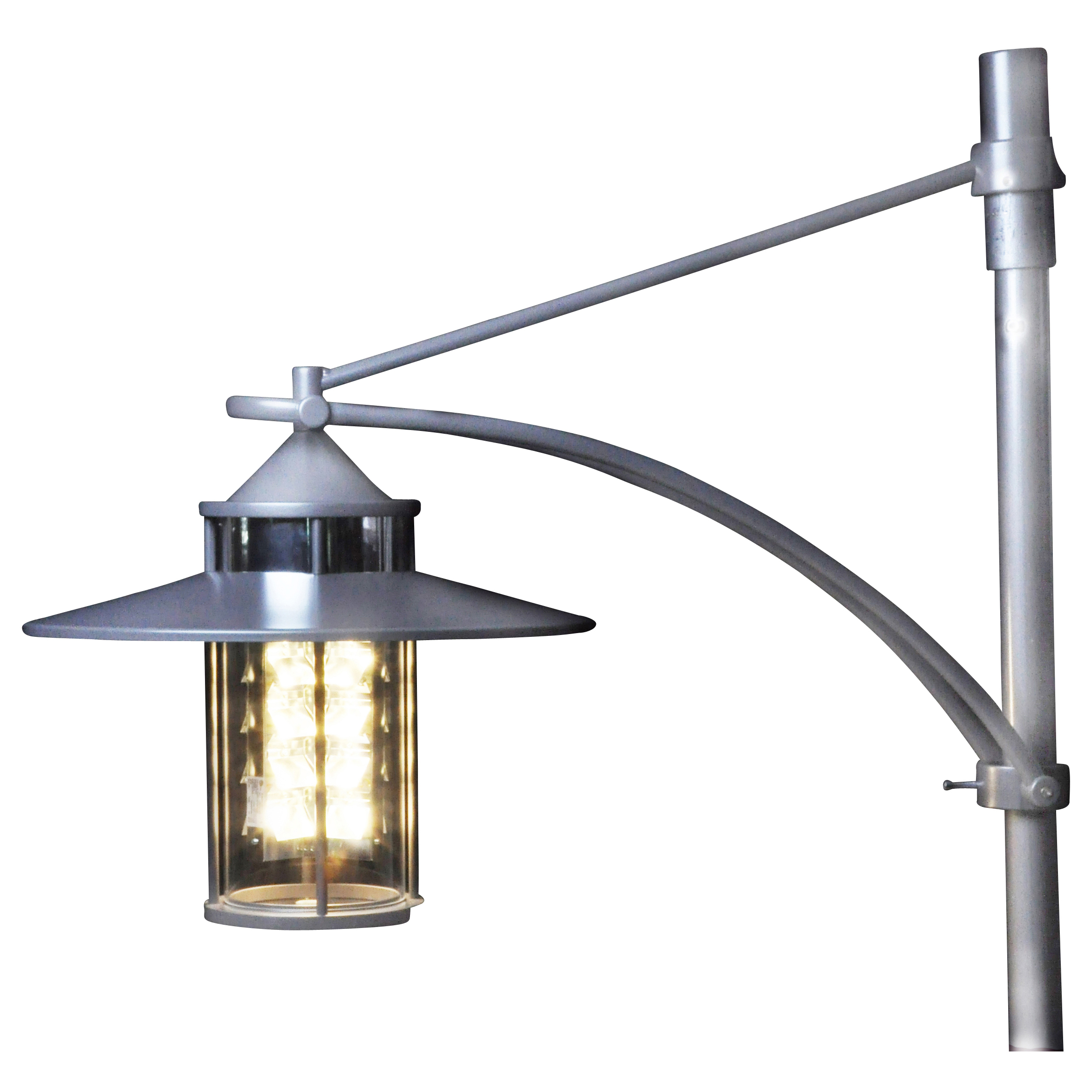LED Cylinder Luminaire as Pendant Luminaire with Skylight